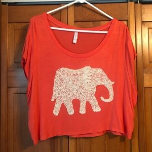 Cropped elephant top 🐘